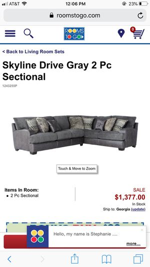 Skyline Drive Grey 2 pc Sectional with Ottoman for Sale in Atlanta, GA