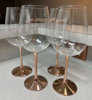 Four Copper Stemmed Wine Glasses for Sale in Woodbridge, VA