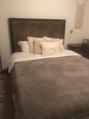 Bedroom set: dresser, night stand, & bed frame for Sale in Los Angeles, CA