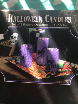 Halloween candles set of 3 battery operated led candles for Sale in El Cajon, CA