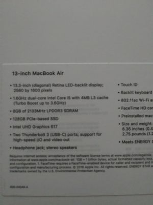 13 inch MackBook Air for Sale in Lakewood Township, NJ