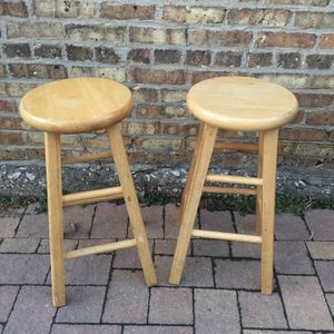 Wood Stools\ Bancos For Counter Height for Sale in Chicago, IL