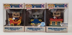 Funko Pop! Disneyland 65th Anniversay DUMBO The Casey Jr. Train Attraction Limited Edition & Mickey & Minnie Mouse for Sale in Glendale, CA