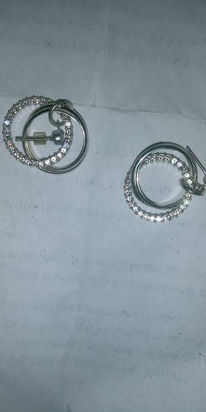 Stainless steel silver earrings for Sale in Washington, DC
