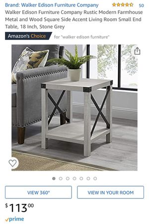 Walker Edison End Table - Stone Gray - BRAND NEW IN BOX for Sale in Luzerne, PA