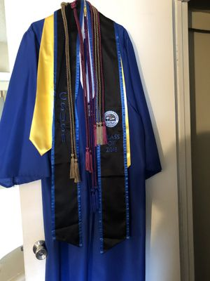 Graduation gown, sashes, and cords for Sale in Rialto, CA