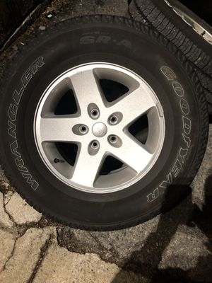 Jeep Wrangler OEM Rims and Tires for Sale in Seekonk, MA