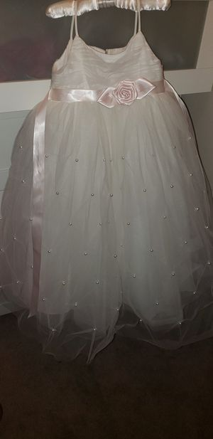 Tulle Flower Girl Dress with Pearl Pick-Ups for Sale in Roswell, GA