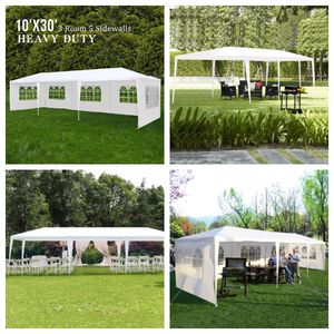 NEW White Canopy Party Wedding Tent Gazebo Event Outdoor Patio Table Shade Set Up Car/Truck Swimming Pool EZ bbq Cover Umbrella Shed Beach Chair Shel for Sale in Jurupa Valley, CA