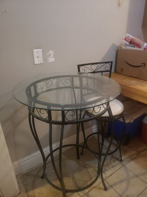 $100 obo Bar table, 2 stools for Sale in St. Louis, MO