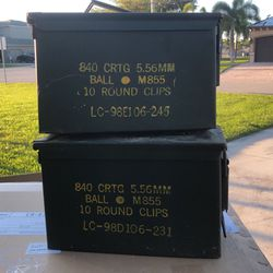 2 Metal Ammo Cases (Empty) for Sale in Cape Coral,  FL