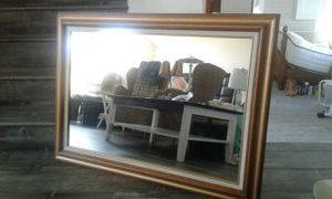 "Modern Mirror Gold Solid Wood Frame 43""x31.5"" Like New for Sale in West Covina, CA"
