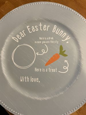 Personalized Easter Bunny Plate for Sale in Moore, OK