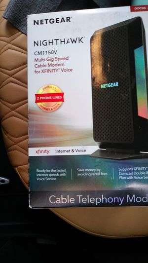 Netgear cm1150v cable modem new for Sale in Garland, TX