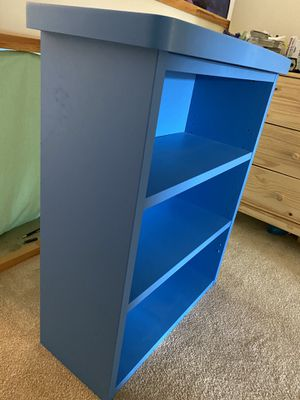 Blue bookcase for Sale in Potomac Falls, VA