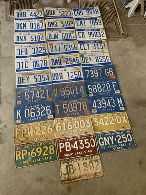 License Plates for Arts & Crafts for Sale in Georgetown Township, MI