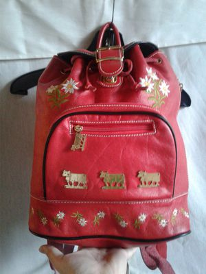 Swiss Alps Fantasy Leather Backpack for Sale in Edgewater, NJ