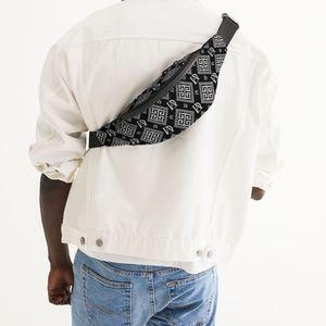 DeMarcus Alexan Black White Monogram Crossbody Sling Bag for Sale in Alexandria, VA