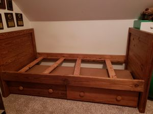 Wooden bunk bed with drawers for Sale in Puyallup, WA