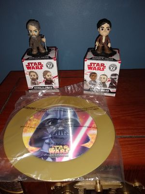 Star Wars Mystery Mini lot Funko Pop Smugglers Bounty Luke Skywalker Poe Dameron Rise of Skywalker toy figure Darth Vader plate for Sale in Hartford, CT