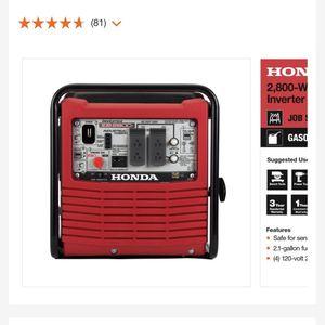 Honda Generator eg2800i for Sale in Alexandria, VA