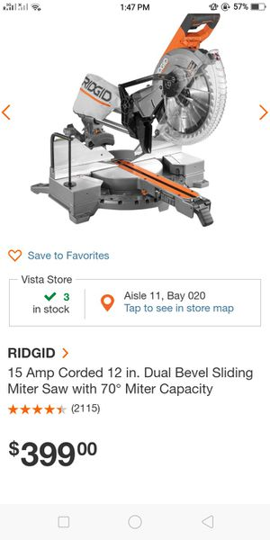 Ridgid Saw with Table for Sale in Vista, CA