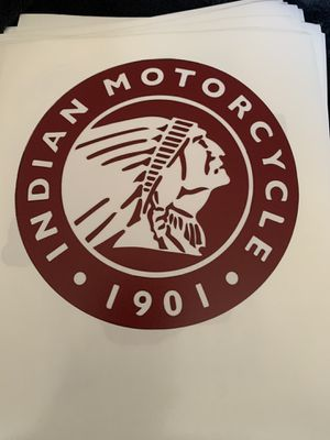 Indian motorcycle decal sticker for Sale in Fountain Valley, CA