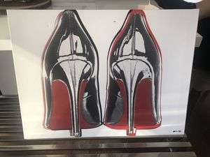 Red bottom heels canva for Sale in Boston, MA