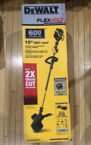 "Dewalt 60v FlexVolt Brushless 15"" Weed Trimmer W/ Battery Pack Kit (New) for Sale in Yonkers, NY"