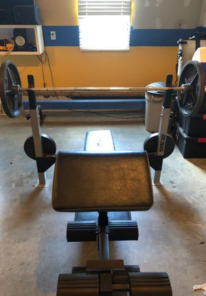 Weight Bench and weights for Sale in Mechanicsville, VA