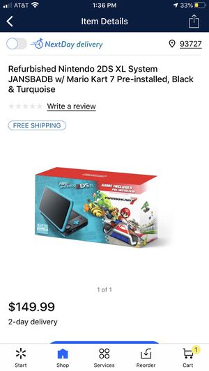 Nintendo 2ds XL with Smash Bro's and Super Mario bro's 2 for Sale in Reedley, CA