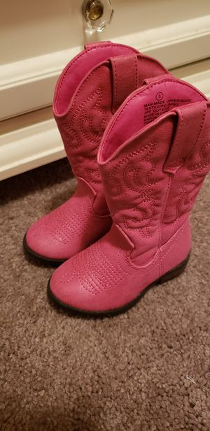 GIRLS TODDLER COWBOY BOOTS for Sale in Elma, WA
