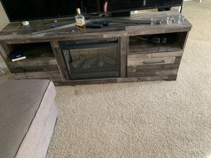 Fireplace TV stand must go for Sale in Euclid, OH