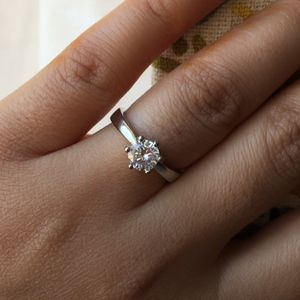 14k gold plated Cz wedding engagement ring size 6 for Sale in Silver Spring, MD