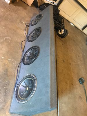 4 kicker comp 10s for Sale in Los Banos, CA