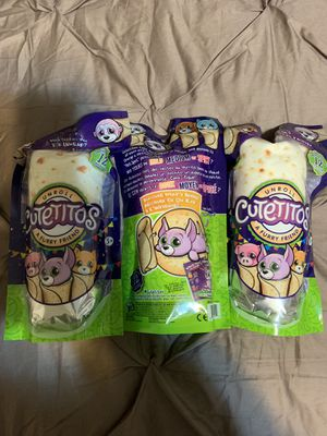 Cutetitos/ Lot of 3/ NIP/ Furry Friends In Burrito Blankets for Sale in Morris, IL