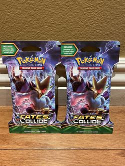 2 Pokémon XY Fates Collide Sleeved Packs for Sale in Anaheim,  CA