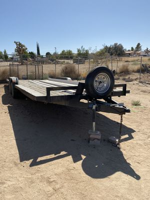 """24' trailer 99"""" wide with winch and ramp in very good condition 2 spear rims and tires for Sale in Hesperia, CA"""