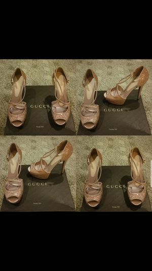 Authentic Gucci high heels rhinestones bling for Sale in Costa Mesa, CA