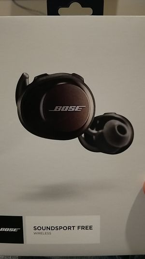 Bose SoundSport Free, True Wireless Sport Headphones, (Sweatproof Bluetooth Headphones for Workouts), Black for Sale in Las Vegas, NV