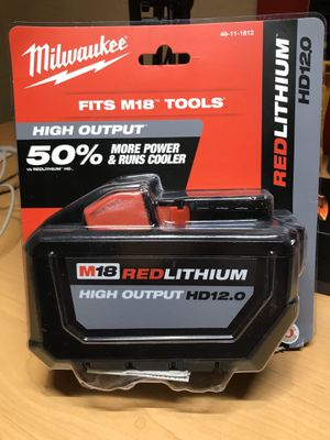 Milwaukee M18 high output hd 12.0 AH NEW In pack for Sale in Fresno, CA