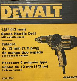 DeWALT Electric Drill 1/2in Spade Handle for Sale in Fort Worth,  TX