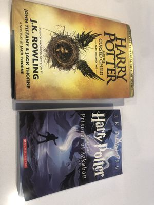 (2) Harry Potter books - and the cursed child + and the prisoner of Azkaban for Sale in Mesa, AZ
