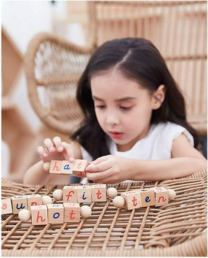Seanmi Montessori Educational Toys for Toddlers, Wooden Rotating Alphabet for Sale in Rancho Cucamonga, CA