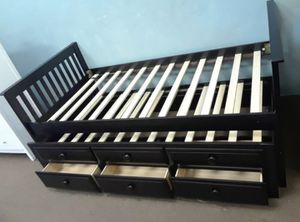 Twin size Captain's bed frame with Trundle and Drawers for Sale in Glendale, AZ