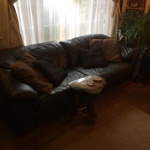 Genuine Leather Couch for Sale in Portland, OR