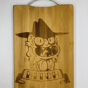 Scary Terry laser engraved bamboo high quality cuttingboard valentines gift for Sale in Los Angeles, CA