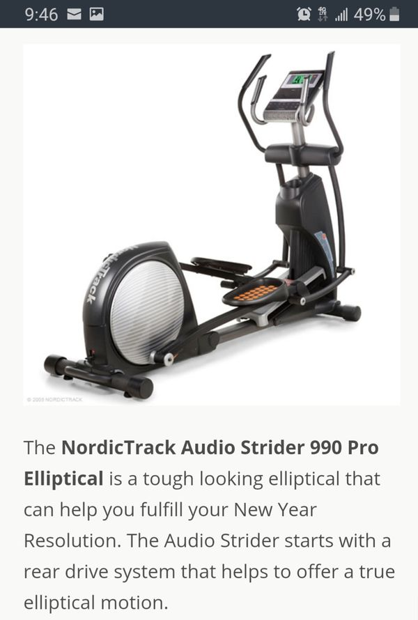 Nordictrack audiostrider 990 pro elliptical Brand new still in the box
