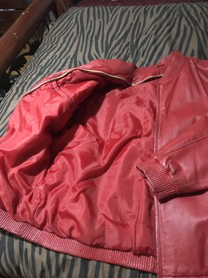 Red Leather Jacket for Sale in Bronx, NY