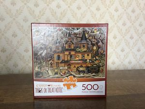 New jigsaw puzzle 500 pc Buffalo games Trick or Treat Hotel Wysocki for Sale in Seattle, WA